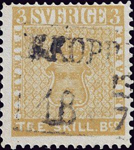 newStamp-Brand-Swedish-Tre-Skilling-Banco-Error-Free--9826